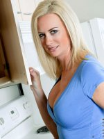 Milf Camryn Cross flaunts her curvy body in the kitchen and massages her big boobs – Big Boobs, Landing Strip Pussy, Tall Girls, Blonde, Long hair, Bras, Fair Skin, Thongs, Housewife, Milf