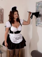 Tag-team Fuck For A French Maid – Big Tits,  Blowjob,  Cumshot