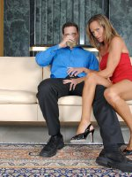 Long legged brunette cougar receives a serious pussy ramming from a horny stud on the couch – Big Boobs, Shaved Pussy, Tall Girls, Brunette, Long hair, Panties, Hardcore, Tan, High Heels, Sheer, Mini Skirt, Big Areolas, Tan Lines, Evening wear, Enhanced, Milf
