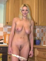 nasty blonde undressing revealing her sagging body and large tits
