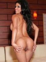 See this big titted bombshell Alexis Amore open her tight asshole then ride a huge cock like a cowgirl