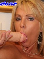 Alysha does a little DP with her dildos – Naughty Alysha,  MILF,  Big Tits