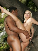 Intense interracial action with top heavy MILF Nikki Hunter working a huge black cock