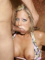 Sexy Sophia stripping off to flaunt her big racks and took cock stuffing in her mouth and ass