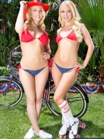 Aaliyah Love & Kagney Linn Karter are partying it up at their friend's house this 4th of July. The thing is that their friend didn't let her husband,  Seth,  know that they were stopping by. Seth is a little surprised when he spots Aaliyah and Kagney ha
