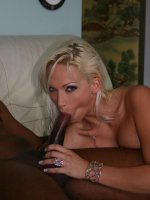 Nikki Hunter and Daphne Rosen show off their tatas while sharing a huge black dick