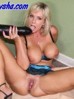 Naughty Alysha bends over a shows us her huge pussy. – Naughty Alysha,  MILF,  Big Tits