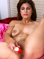 Horny Anilos milf shows off her big bosoms and fucks her needy pussy with a red vibrator - Big Boobs, Shaved Pussy, Tall Girls, Brunette, Long hair, Panties, Lingerie, Masturbation, Toys, Fair Skin, Big Areolas, Natural, Milf