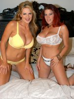 Kelly and her friend play with each others titties. - MILF,  Big Tits,  Kelly Madison