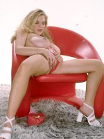 Gorgeous Honey Pot with Big Tits Posing in Red Panty