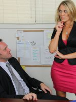 Busty Blonde worker Amber Ashlee has hot sex with her co-worker and loves getting fucked by his big cock. - Amber Ashlee, Naughty Office, Alec Knight,  Amber Ashlee,  Co-worker,  Employee,  Chair,  Desk,  Floor,  Ass licking,  Big Ass,  Big Fake Tits,  Big Tits,  Blon