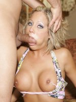 Busty blonde Sophia Gently spreading her juicy flaps while she gets her asshole filled