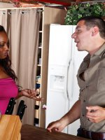Jada Fire has been watching her neighbor Denis for a while now. Now that the wife is away,  it's time she introduce herself… to his cock. – Jada Fire, I Have a Wife, Jada Fire,  Denis Marti,  Neighbor,  Stranger,  Couch,  Living room,  Big Tits,  Black,  Black Hai