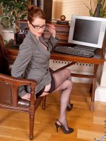Gorgeous Anilos office temp strips down to her naughty lingerie on lunch break – Big Boobs, Puffy Nipples, Shaved Pussy, Tall Girls, Redhead, Long hair, Lingerie, Fair Skin, Thongs, High Heels, Glasses, Sheer, Mini Skirt, Office, Enhanced, Milf, Stockings
