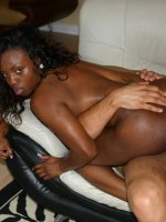 Gorgeous ebony Jada Fire shows off her big boobs to lure two guys into banging her