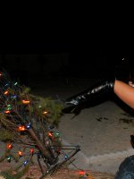 Kelly fucks her X-mas tree up and then gets fucked under the light of her tree on fire. – MILF,  Big Tits,  Kelly Madison